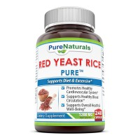 Pure Naturals Red Yeast Rice Dietary Supplement - 1200 mg per serving of two capsules, 240 Capsules Per Bottle