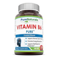 Pure Naturals Vitamin B-6, 100 Mg 100 Tabs - Supports Healthy Heart and Nervous System