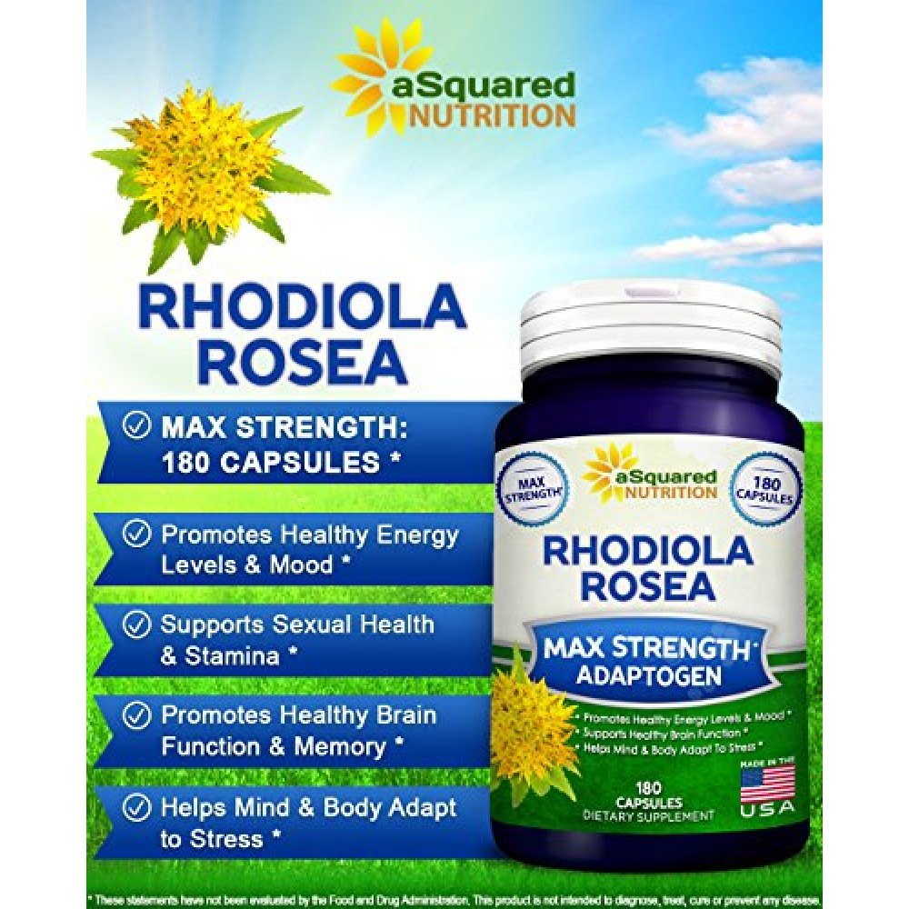 Buy Pure Rhodiola Rosea Supplement 180 Capsules Max Strength