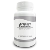 Pure Science Chromium Picolinate 500mcg - Maintain Healthy Blood Sugar and Cholesterol Levels - 50 Vegetarian Chromium Picolinate Capsules