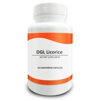 Pure Science DGL Licorice Root 500mg - Contains 10% Glycyrrhiza Glabra Root - Supports Digestive & Respiratory Function - 50 Deglycyrrhizinated Licorice Vegetarian Capsules