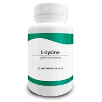Pure Science L-Lysine Capsules 750mg - Highest Dosage Per Capsule on Amazon - Immunity Booster, Promotes Collagen Synthesis for Healthy Bones & Hair, Regulates Mood - 50 Vegetarian Capsules