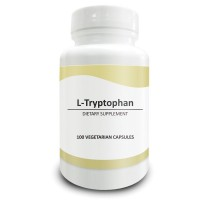 Pure Science L-Tryptophan 500mg - Regulates Mood, Improves Relaxation & Sleep, Supports Metabolism & Improves Overall Health - 100 Vegetarian Capsules of L-Tryptophan Powder