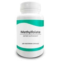 Pure Science Methylfolate 1000mcg - Bioavailable Form of Folate, Prenatal Care, Promotes Cardiovascular Health, Regulates Mood & Promotes Cell Regeneration - 100 Vegetarian Capsules