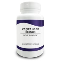 Pure Science Mucuna Pruriens (Velvet Bean) Standardized 95% Mucana L-Dopa Extract 400mg - Testosterone Supplement, Improves Mood & Boosts Libido - 50 Vegetarian Capsules