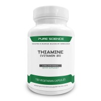 Pure Science Vitamin B1 Thiamine 100mg - Thiamine Supplement to Alleviate Symptoms of Thiamine Deficiency - 50 Vegetarian Capsules of Vitamin B1 Powder
