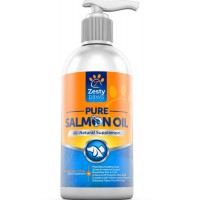Pure Wild Alaksan Salmon Oil for Dogs and Cats - Enhances Heart and Joint Health with EPA and DHA Fatty Acids - 16 FL OZ