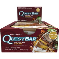 Quest Nutrition Protein Bar, Chocolate Lovers Variety Pack, 5 Flavors, 20-21g Protein, 2.12oz Bar, 12 Count