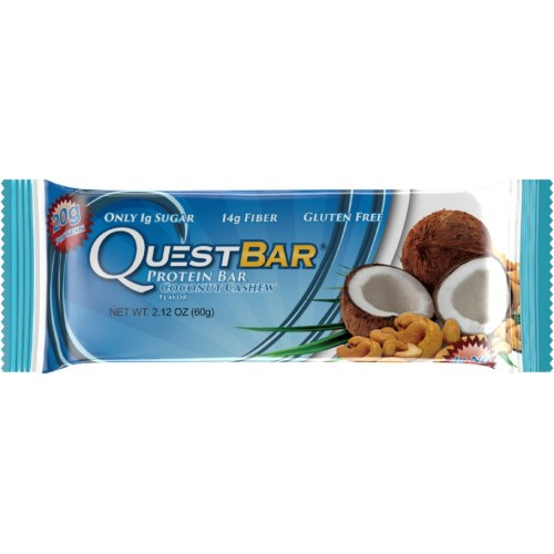 Quest Nutrition Protein Bar, Coconut Cashew, 20g Protein, 2.12oz Bar, 12 Count