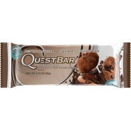 Quest Nutrition Protein Bar, Double Chocolate Chunk, 20g Protein, 2.12oz Bar, 12 Count