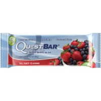 Quest Nutrition Protein Bar, Mixed Berry Bliss, 20g Protein, 2.12oz Bar, 12 Count
