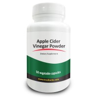 Real Herbs Apple Cider Vinegar 750mg - Detox & Weight Loss Supplement, Improves Lymphatic, Digestive & Immune System, Regulates Blood Sugar Level - 50 Vegetarian Capsules