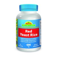 Red Yeast Rice 600 mg 120 Capsules by Nova Nutritions (1200 mg per serving)