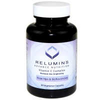 Relumins Advance Vitamin C - MAX Skin Whitening Complex With Rose Hips & Bioflavonoids - 60 Capsules (1 Month Supply) - New Smaller Bottle