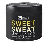 SWEET SWEAT 'Unscented' Workout Enhancing Gel - XL Jar (13.5oz)