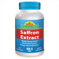 Saffron Extract 88.5 mg 180 Vcaps by Nova Nutritions