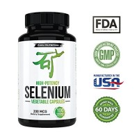Selenium for Thyroid, Prostate and Heart Health - Essential Trace Mineral with Superior Absorption - Yeast Free - 100 Once Daily Vegetable Capsules - Manufactured in the USA