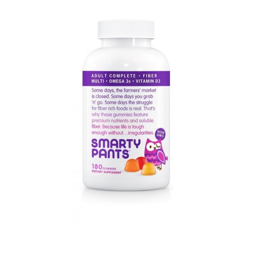Buy smartypants adult complete and fiber gummy vitamins for Fiber in fish