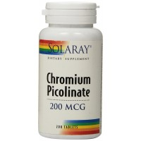 Solaray Chromium Picolinate Tablets, 200 mcg, 200 Count