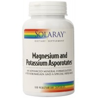Solaray Magnesium and Potassium Asporotates with Bromelain Supplement, 120 Count