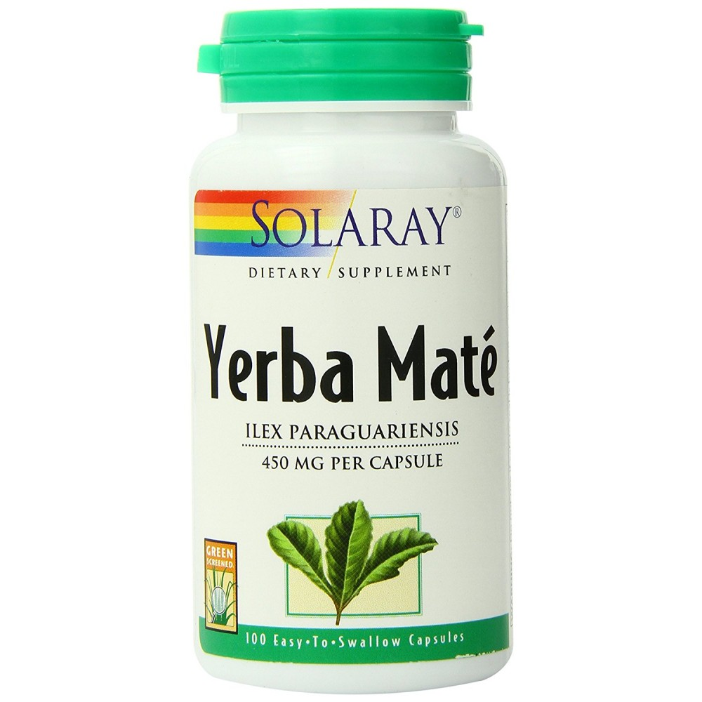 Buy herbal supplements 1000 count capsules - Solaray Yerba Mate Supplement 450mg 100 Count