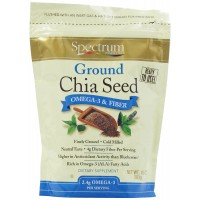 Spectrum Essentials Ground Chia Seed, 10 Ounce (283 gm)