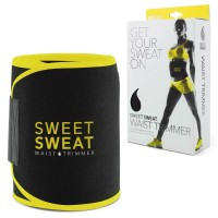 Sports Research Sweet Sweat Unisex Waist with Sample of Sweet Sweat Workout Enhancer, Medium