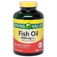 Spring Valley All Natural Fish Oil Heart Health 1000 Mg/300 Mg Omega-3 200 Soft Gel