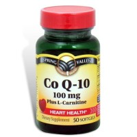 Spring Valley - Co Q-10, Plus L-Carnitine 100 mg, 50 Softgels