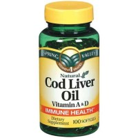 Spring Valley - Cod Liver Oil with Vitamin A & D 100 softgels
