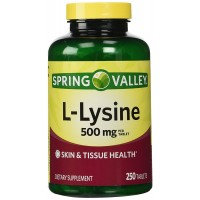 Spring Valley: Dietary Supplement L-Lysine, 250 ct