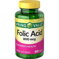 Spring Valley - Folic Acid 800 mcg, 400 Tablets