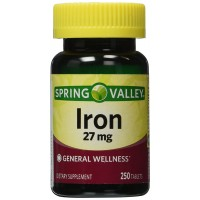 Spring Valley - Iron 27 mg, 250 Tablets