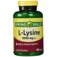 Spring Valley - L-Lysine 1000 mg, 100 Tablets