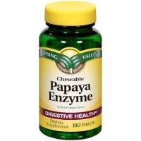 Spring Valley - Papaya Enzyme, 180 Chewable Tablets