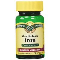 Spring Valley Slow Release Iron 30 Tablets
