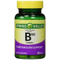 Spring Valley - Vitamin B-Complex B50, Timed Release, 60 Tablets