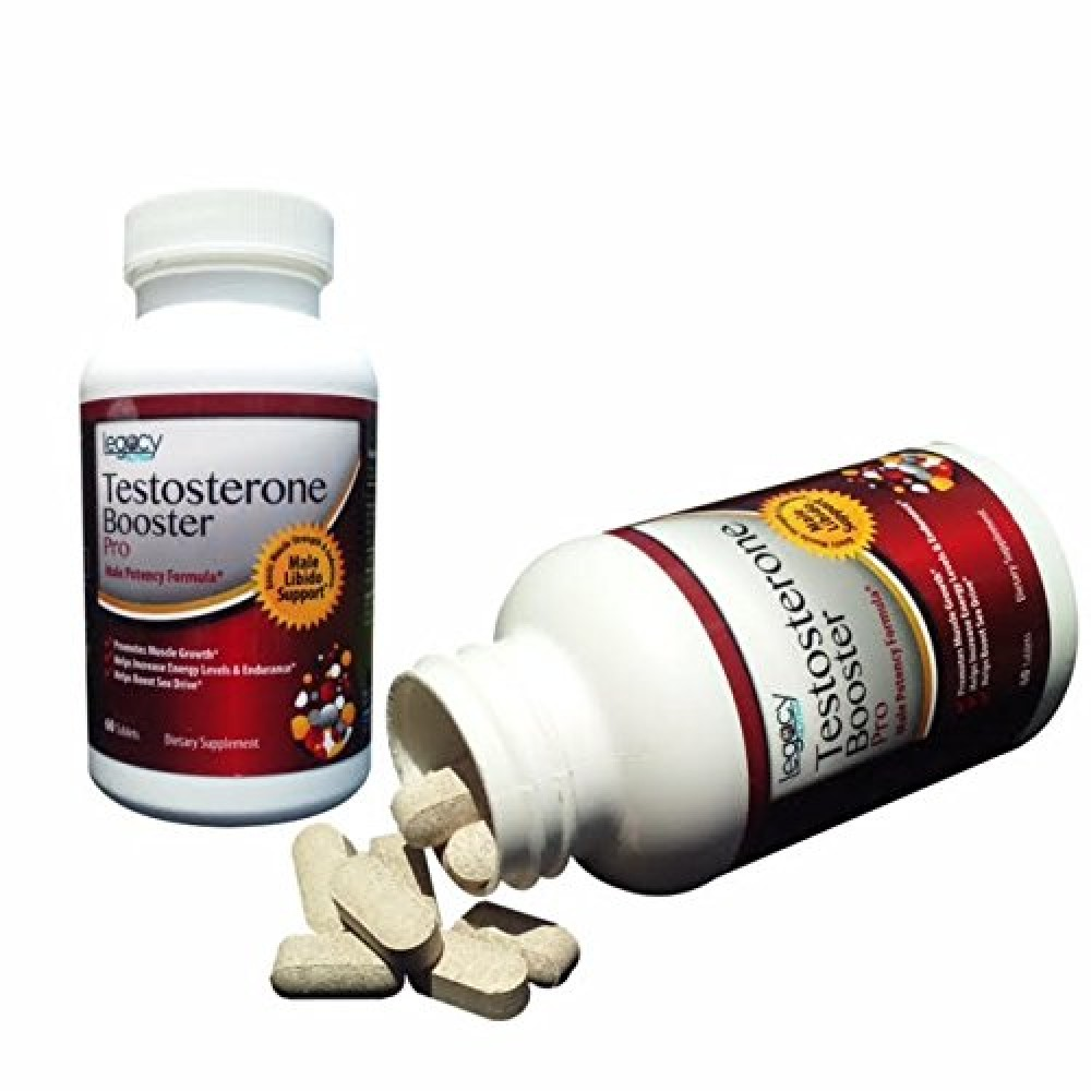 Buy TESTOSTERONE BOOSTER Capsules - by Legacy Nutra - Pro Supplements for Men 60 Count 30 Day