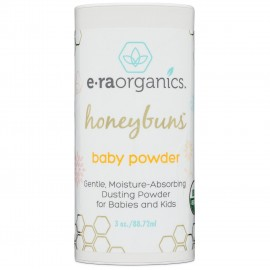 Era organics Talc Free Baby Powder 3oz. USDA Certified Organic Dusting Powder by Honeybuns Non-GMO, Cruelty Free, Natural and Organic Baby Products