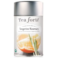 Tea Forte Garden Harvest White TANGERINE ROSEMARY Organic Loose Leaf White Tea, 2.82 Ounce Tea Tin
