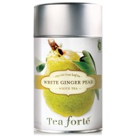 Tea Forte WHITE GINGER Loose Leaf White Tea, 2.1 Ounce Tea Tin