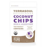 Terrasoul Superfoods Raw Coconut Chips (Organic), 12-ounce