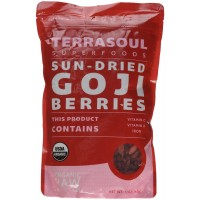 Terrasoul Superfoods Sun-Dried Goji Berries (Organic), 12 Ounce