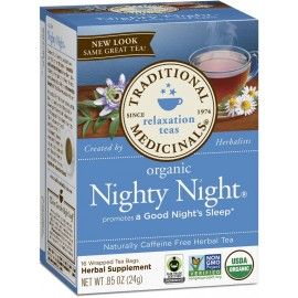 Traditional Medicinals Organic Nighty Night Tea, 16 Tea Bags