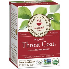 Traditional Medicinals Organic Throat Coat Tea, 16 Tea Bags