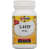 Vitacost 5-HTP 50 mg - 120 Capsules for Good Mood, Relaxation