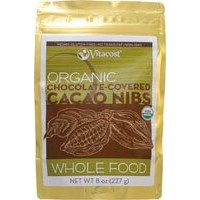 Vitacost Whole Food Organic Chocolate-Covered Cacao Nibs - Non-GMO 8 oz (227 g)