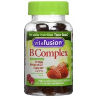 Vitafusion Boost B, Gummy Vitamins, Wild Strawberry 70 count