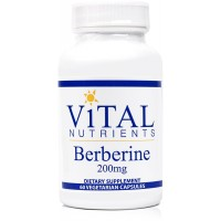 Vital Nutrients - Berberine 200 mg - Supports Regular and Normal Bowel Function - 60 Capsules