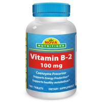 Vitamin B2 100 mg 180 Tablets by Nova Nutritions